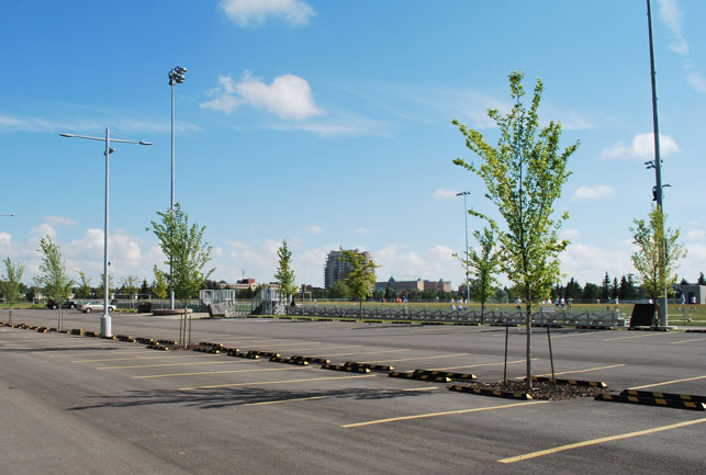 Millwoods Parking Lot Using Stratacell