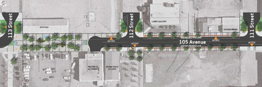 remodel the streetscape of Edmonton