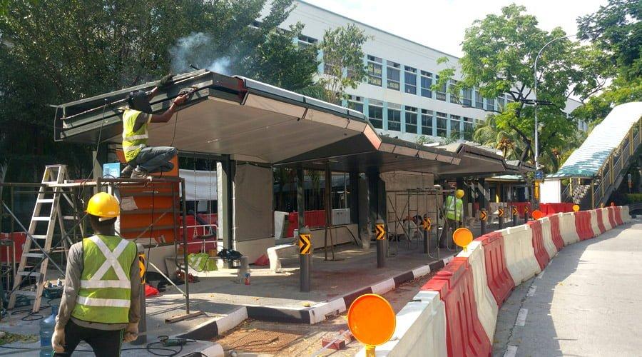 development of jurong bus station
