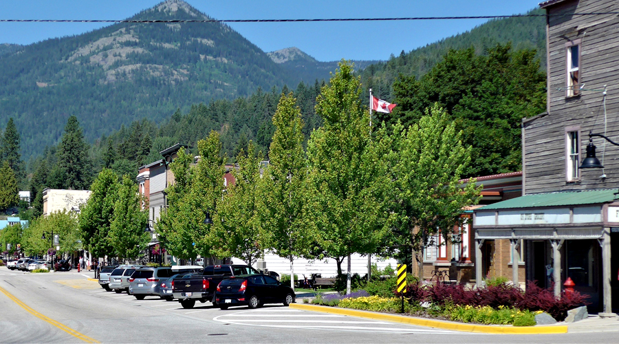 Street trees - Rossland Canada